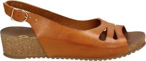 Sandały Darbut w stylu casual ze skóry na koturnie