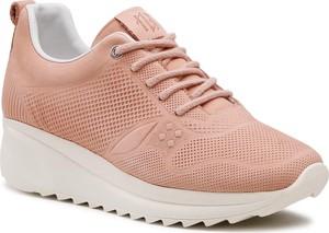 Różowe buty sportowe Badura ze skóry
