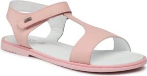 Różowe buty dziecięce letnie Lasocki Young na rzepy