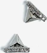 783 Ozdoba do manicure Semilac srebrne piramidy, 2 sztuki