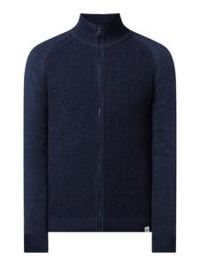 Granatowy sweter McNeal z dzianiny