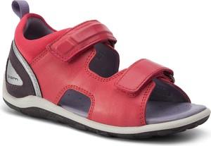 Czerwone buty dziecięce letnie Ecco na rzepy
