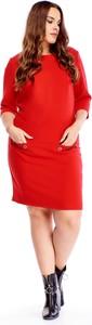 Sukienka Ptakmoda.com w stylu casual mini z okrągłym dekoltem