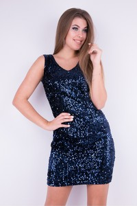 Sukienka WIBS mini dopasowana