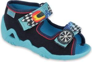 Buty dziecięce letnie Befado z tkaniny na rzepy