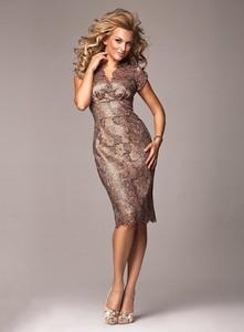 Brązowa sukienka Marselini midi
