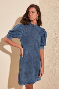 Niebieska sukienka Trendyol mini