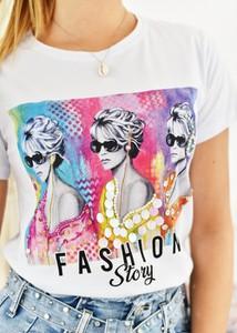 T-shirt Fason z bawełny