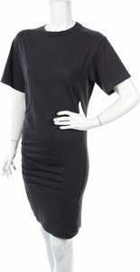 Czarna sukienka Cheap Monday w stylu casual dopasowana z okrągłym dekoltem
