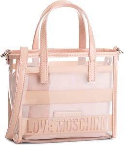 2b647c60b2d27 Różowa torebka Love Moschino średnia do ręki w młodzieżowym stylu