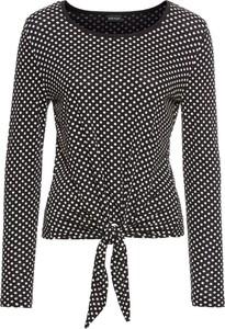 Czarna bluzka bonprix bodyflirt w stylu retro