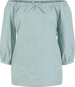 Niebieska bluzka bonprix John Baner JEANSWEAR z długim rękawem hiszpanka w stylu casual