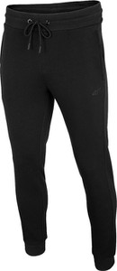 Czarne spodnie sportowe 4F z dzianiny w sportowym stylu
