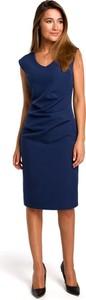 Niebieska sukienka Merg ołówkowa