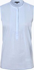 Niebieska bluzka Marc O'Polo z okrągłym dekoltem w stylu casual bez rękawów