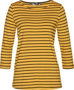 Żółta bluzka bonprix bpc selection z długim rękawem