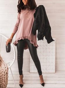 Różowa bluzka SELFIEROOM z długim rękawem
