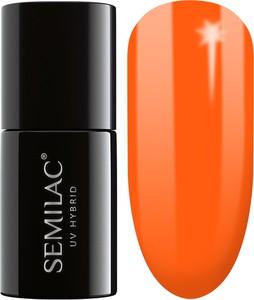 Semilac, lakier hybrydowy 045 electric orange