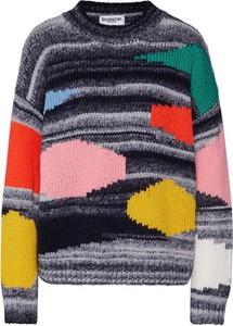 Sweter Essentiel Antwerp z dzianiny z nadrukiem w stylu casual