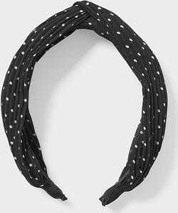 C&A CLOCKHOUSE-opaska na włosy z supełkiem-w kropki, Czarny, Rozmiar: 1 rozmiar