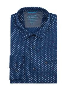 Niebieska koszula Pierre Cardin z długim rękawem z kołnierzykiem button down