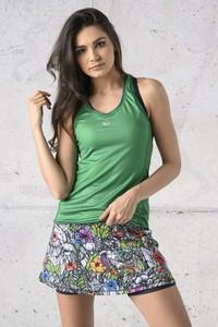 Zielony top Nessi Sportswear z okrągłym dekoltem