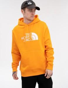 Pomarańczowa bluza The North Face z dzianiny
