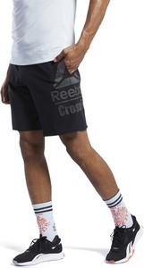 Czarne spodnie sportowe Reebok z tkaniny