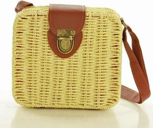 Żółta torebka MAZZINI w wakacyjnym stylu średnia