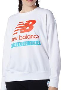 Bluza New Balance krótka z tkaniny w sportowym stylu
