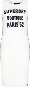 Sukienka Superdry bez rękawów z okrągłym dekoltem mini