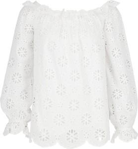 a9bd960f453ae Białe bluzki damskie Michael Kors, kolekcja wiosna 2019
