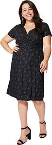 Czarna sukienka Aller Simplement z bawełny