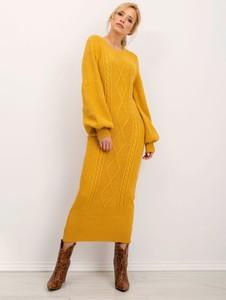 Żółta sukienka Factory Price maxi w stylu casual
