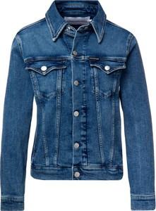 Niebieska kurtka Calvin Klein w stylu casual