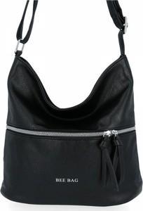 Czarna torebka Bee Bag na ramię w stylu glamour duża