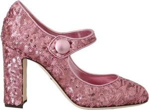 Różowe czółenka Dolce & Gabbana z okrągłym noskiem