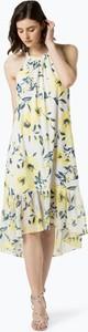 Żółta sukienka Marie Lund bez rękawów asymetryczna midi