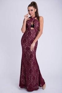 Czerwona sukienka Moda Dla Ciebie maxi