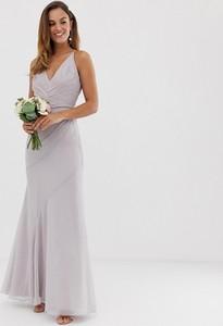 Sukienka Asos na ramiączkach z dekoltem w kształcie litery v maxi