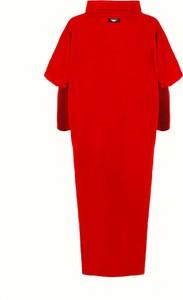 Czerwona sukienka Byinsomnia z bawełny midi oversize