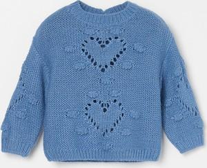 Niebieski sweter Reserved dla dziewczynek