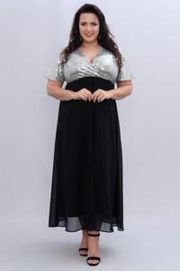 Czarna sukienka KARKO z dekoltem w kształcie litery v