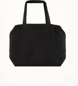 Czarna torebka Byinsomnia duża matowa w sportowym stylu