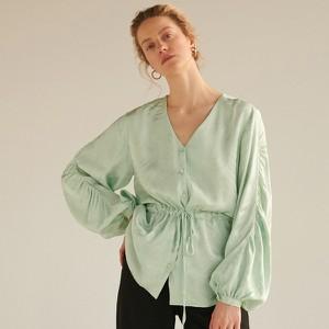 Bluzka Reserved w stylu casual z żakardu z długim rękawem