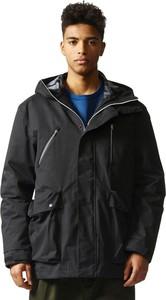 Czarna kurtka Adidas z tkaniny w młodzieżowym stylu