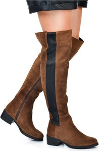 Kozaki Gamis za kolano w stylu casual na obcasie