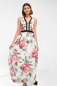 Sukienka ORSAY bez rękawów z tkaniny z dekoltem w kształcie litery v
