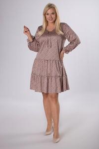 Sukienka Ptakmoda.com trapezowa w stylu casual z satyny
