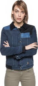Niebieska kurtka Wrangler ze sztruksu